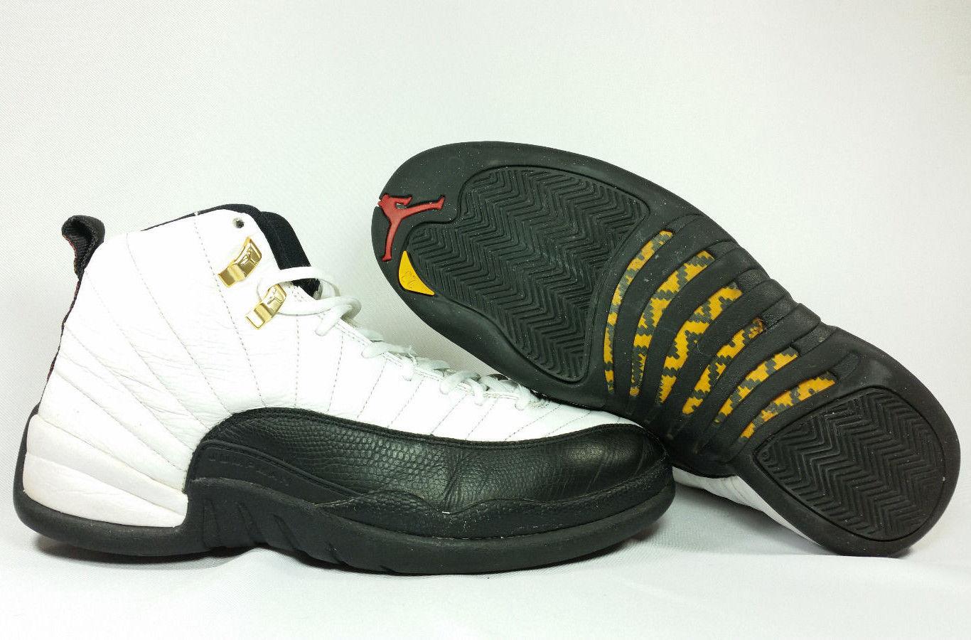 promo code 46c70 15158 Nike Air Jordan XII 12 Retro CDP COUNTDOWN WHITE BLACK TAXI GOLD 130690-109  11.5