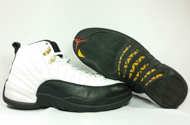 promo code 535b2 812d3 Nike Air Jordan XII 12 Retro CDP COUNTDOWN WHITE BLACK TAXI GOLD 130690-109  11.5